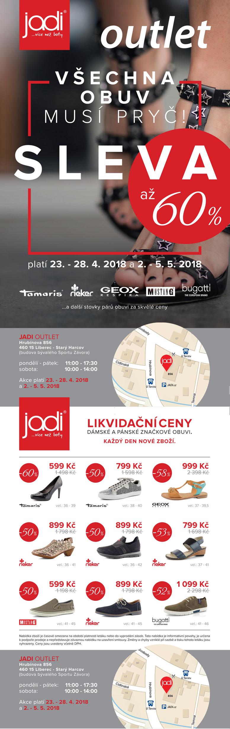 JADI Outlet Harcov jaro 2018