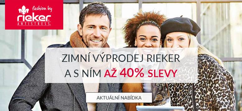 Výprodej zimní obuvi Rieker a slevy až 40 %