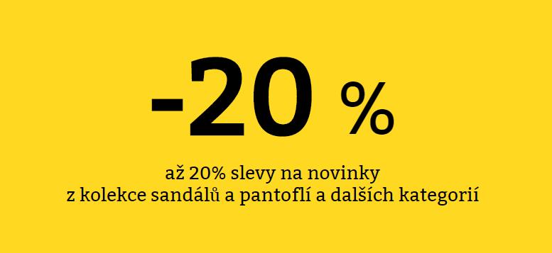 Až 20% slevy na novou letní obuv