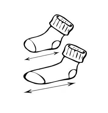 Tabulka velikostí - ponožky