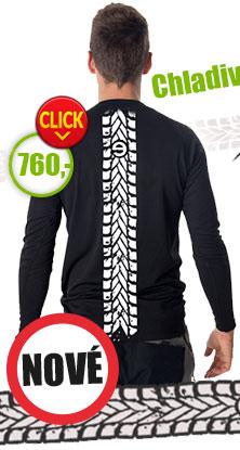 NOVINKA - coolmax pánské chladivé triko s potiskem moto stopy!