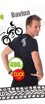 Bavlněné pánské tričko atibakteriální s moto potiskem
