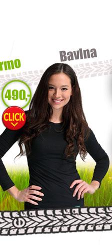 Bavlněné dámské tričko atibakteriální s dlouhým rukávem