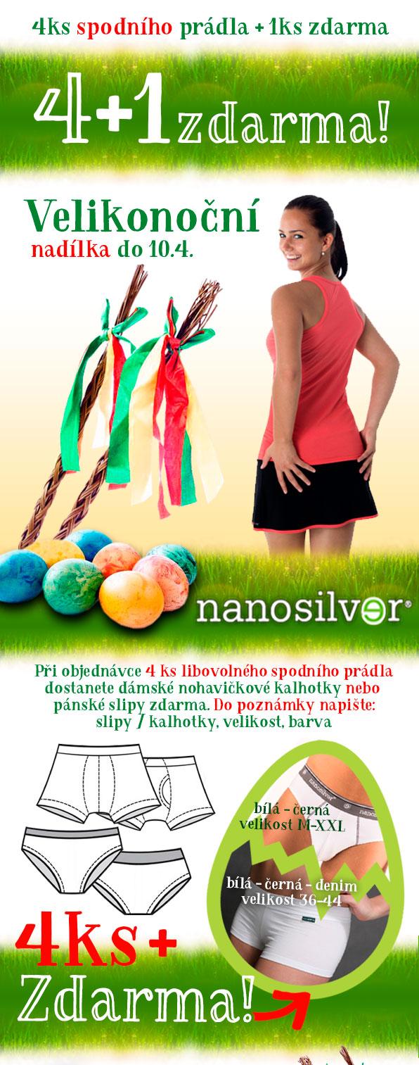 Nadílka od nanosilver - 4 + 1 ks spodního prádla zdarma!