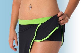 Sportovní sukně se šortkami - nohavičkovými kalhotkami!