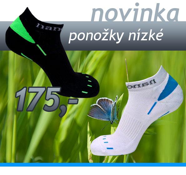 Nove nizke ponozky - cerno/zelene a bilo/modre!