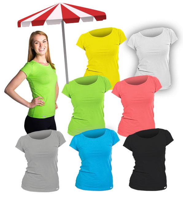 BAREVNÉ bavlněné dámské tričko classic