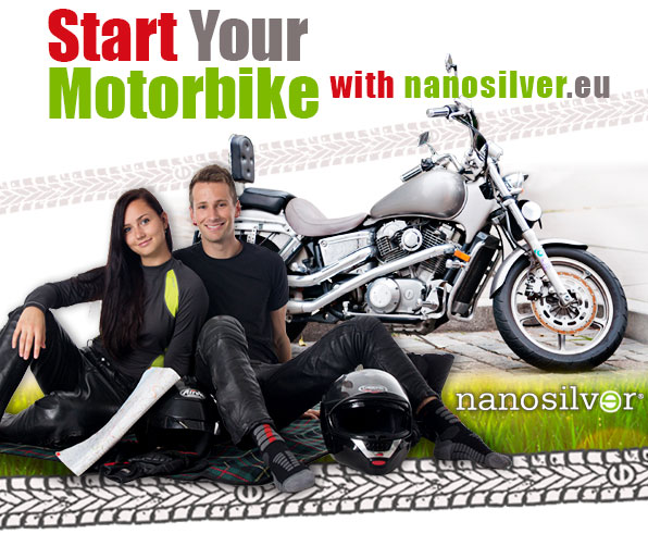 Start Your Motorbike with nanosilver.eu!