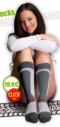 Nanosilver knee socks with molecules of silver