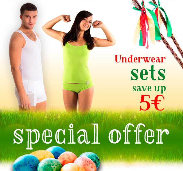 Underwear sets - save up 5€!