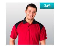 Pánské Gents' POLO SHIRT, T-shirt with collar nanosilver DAKAR, BLACK-RED