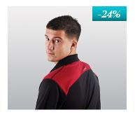 Gents' POLO SHIRT, T-shirt with collar nanosilver DAKAR, BLACK-RED