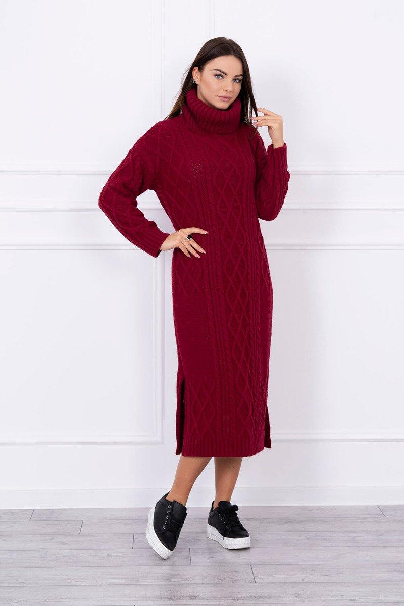 Volnočasové pletené šaty dámské