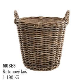 Ratanový košík Moses