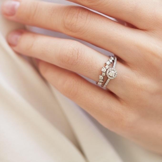 Zásnubní a snubní prsten KLENOTA v kombinaci