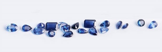 Natural sapphires - KLENOTA
