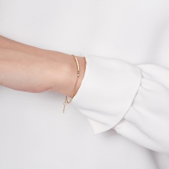 Zlatý náramek s diamantem - KLENOTA
