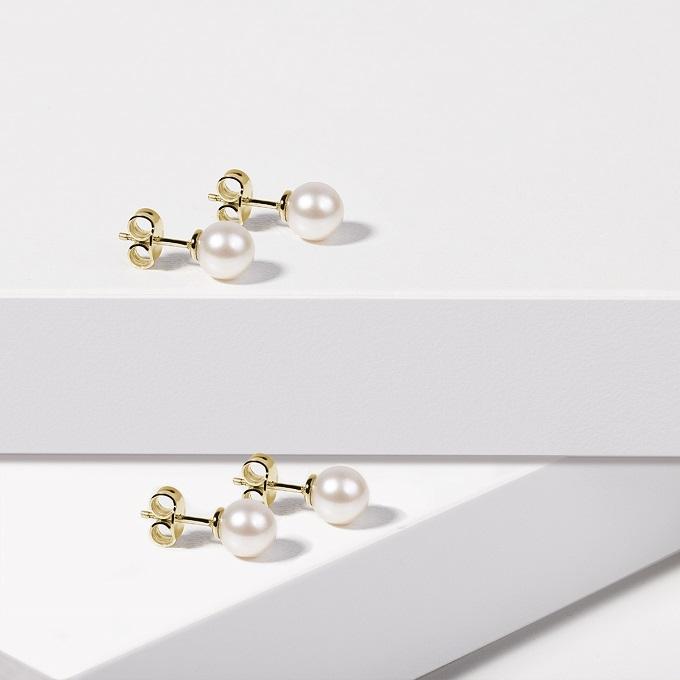Náušnice so sladkovodnými perlami - KLENOTA