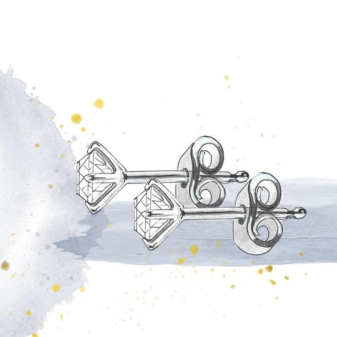 Zapínání náušnic, typ puzeta - KLENOTA