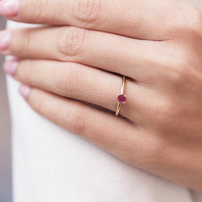 Zlatý prsteň s rubínom - KLENOTA