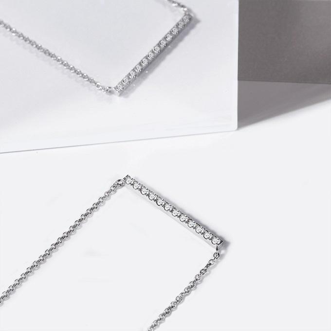 Halskette aus Weißgold mit Diamanten aus der Kollektion Rain - KLENOTA