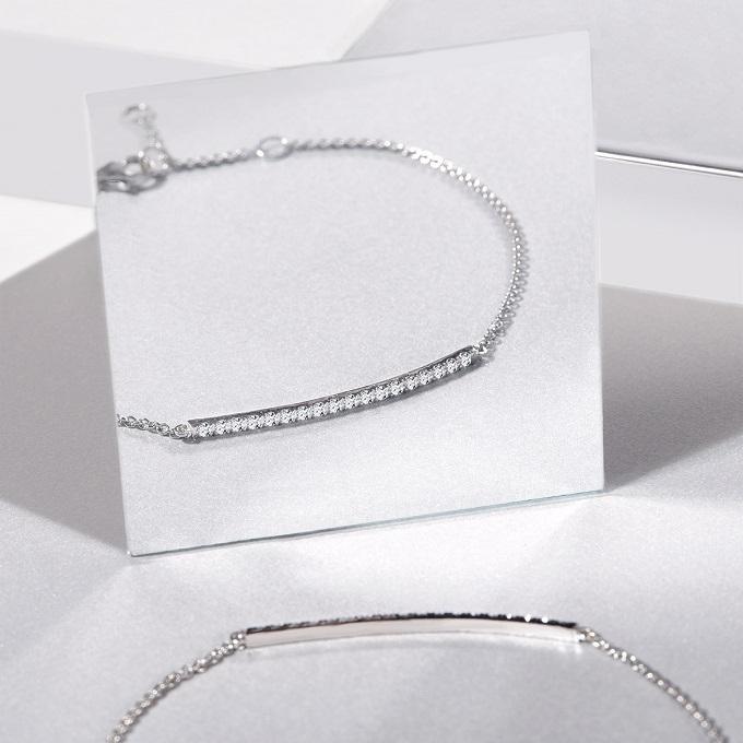 Armband aus Weißgold mit Diamanten aus der Kollektion Rain - KLENOTA