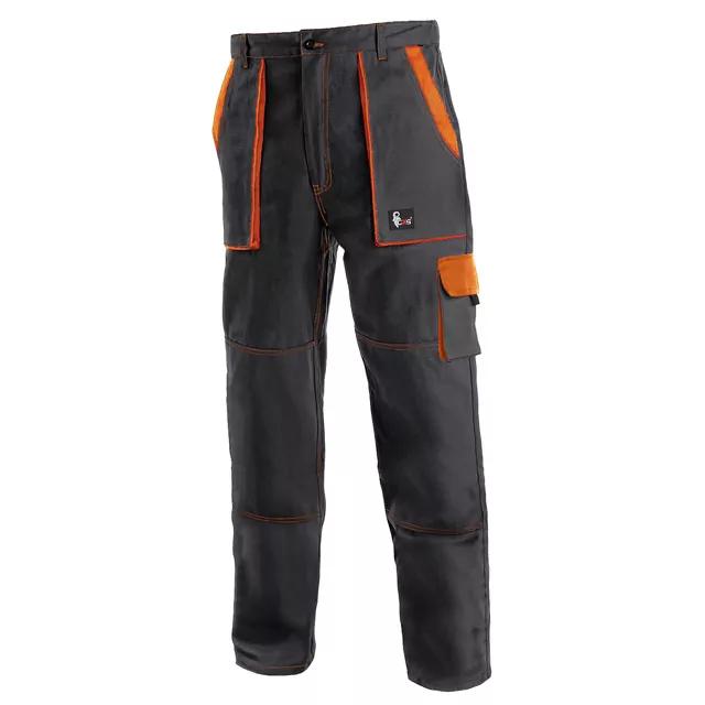 Tmavé pracovné nohavice do pása