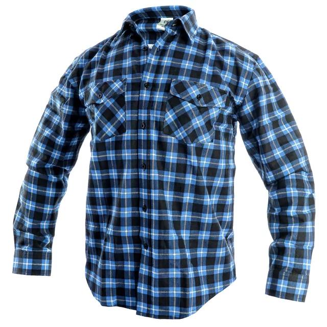 Modrá flanelová košeľa