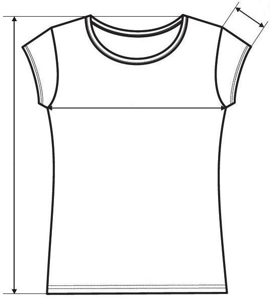 Meranie dámske tričko Pure