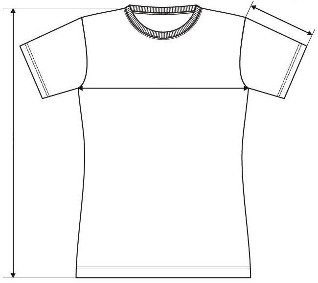 Meranie dámske tričko Basic