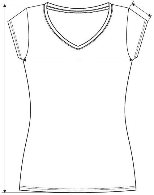 Meranie dámske tričko Fit V-neck