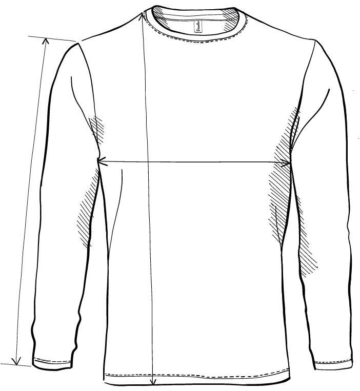 Meranie tričko s dlhým rukávom Progress LS