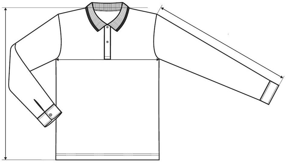 Meranie košeľa s dlhým rukávom Contrast Stripe LS