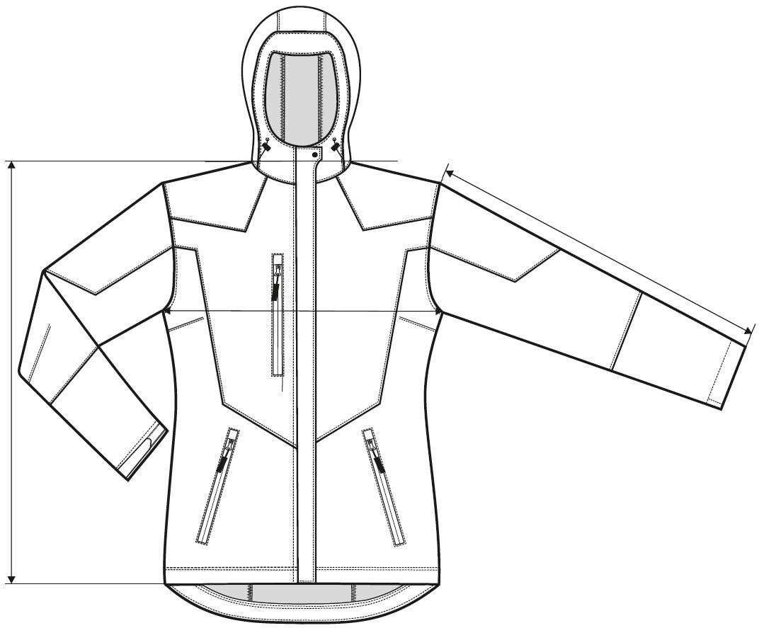 Měření dámská softshellová bunda Nano