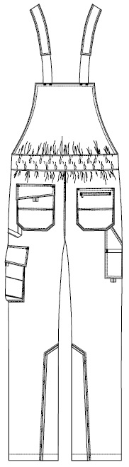 Kalhoty zezadu