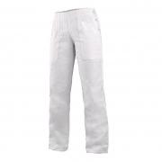 Dámské bílé pracovní kalhoty DARJA 145 s pasem do gumy