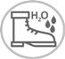 Symbol svršek odolný proti průniku a absorpci vody