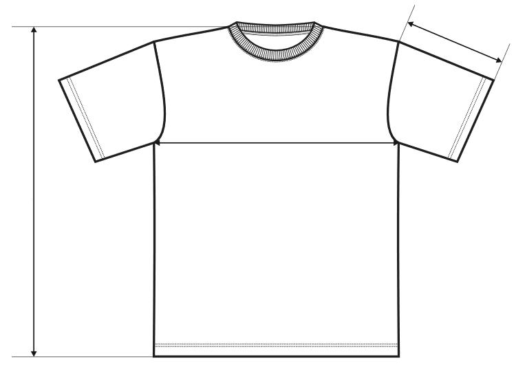 Způsob měření trička