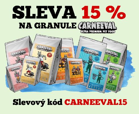 Sleva 15 % na krmivo Carneeval