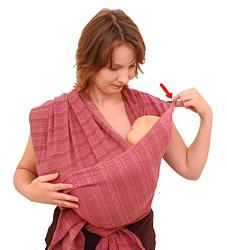 šátek na nošení dětí úvazy kolíbky
