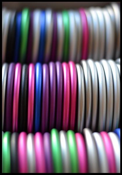 kroužky na Ring Sling šátek s kroužky