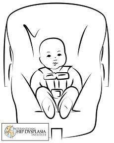 autosedačka a kyčle miminka