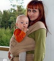 elastický šátek na nošení miminka MaM ECO