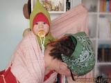 vázání šátku na nošení dětí