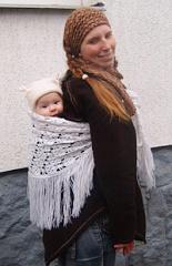nošení dětí v zimě MamaButterfly