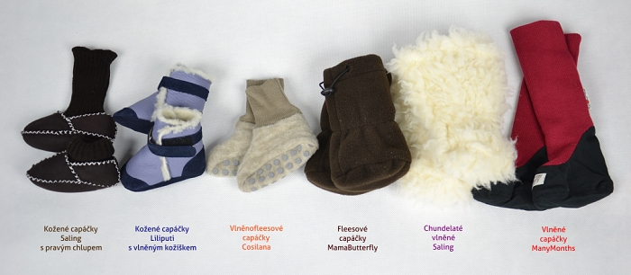 capáčky do zimy na nošení miminek