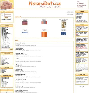 NošeníDětí.cz v roce 2007