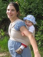 nošení v šátku v těhotenství