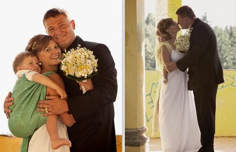 nošení dětí na svatbě