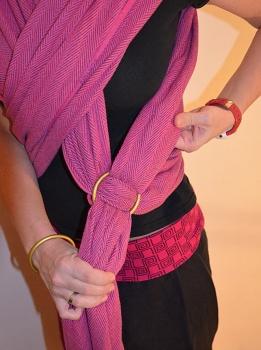 kroužky na ring sling návod